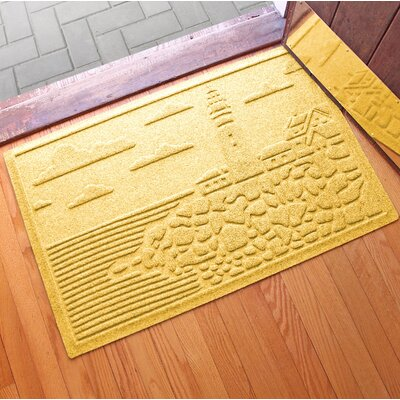 Aqua Shield Lighthouse Cove Doormat Color: Yellow
