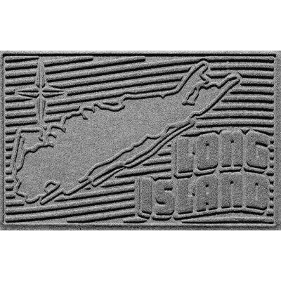 Aqua Shield Long Island Doormat Color: Medium Gray