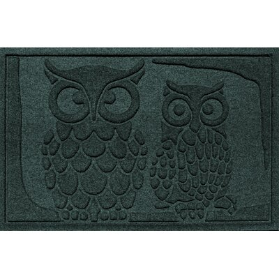 Conway Owls Doormat Color: Evergreen