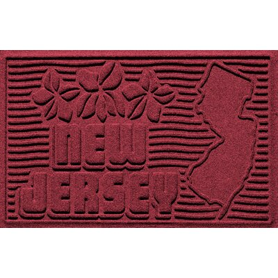 Aqua Shield New Jersey Doormat Color: Red/Black