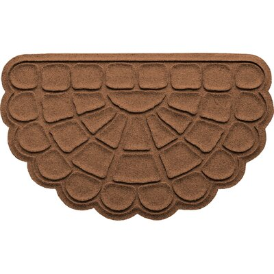 Aqua Shield Cobblestone Slice Doormat Color: Dark Brown