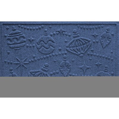 Aqua Shield Ornaments Doormat Color: Navy