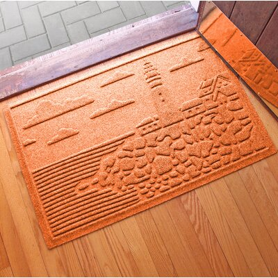 Aqua Shield Lighthouse Cove Doormat Color: Orange