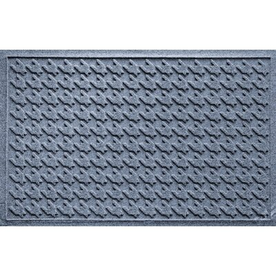 Aqua Shield Houndstooth Doormat Color: Bluestone