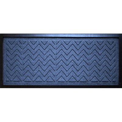 Conway Chevron Boot Tray Color: Navy