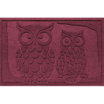 Aqua Shield Owls Doormat Color: Bordeaux