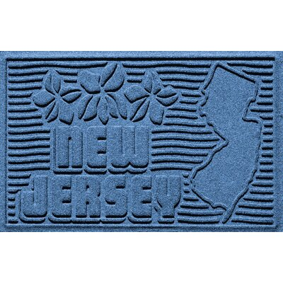 Aqua Shield New Jersey Doormat Color: Medium Blue