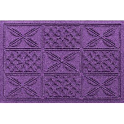 Aqua Shield Patchwork Grid Doormat Color: Purple