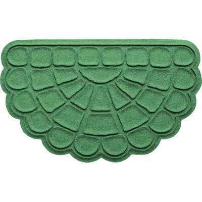 Aqua Shield Cobblestone Slice Doormat Color: Light Green