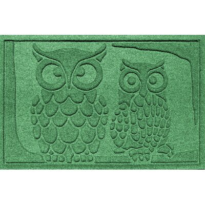 Conway Owls Doormat Color: Light Green