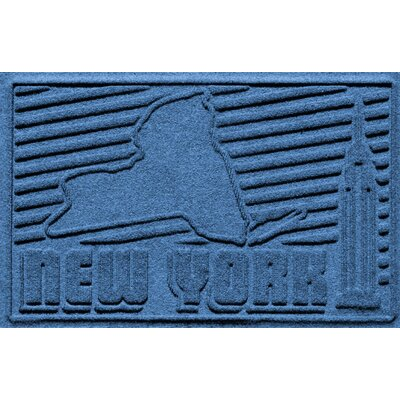 Aqua Shield New York Doormat Color: Medium Blue