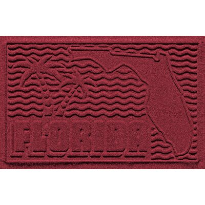 Aqua Shield Florida Doormat Color: Red/Black