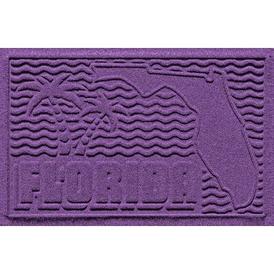Aqua Shield Florida Doormat Color: Purple