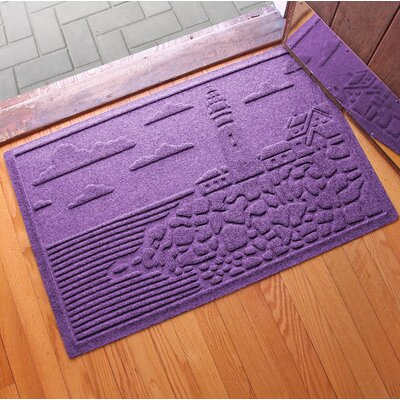 Aqua Shield Lighthouse Cove Doormat Color: Purple