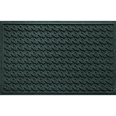 Aqua Shield Houndstooth Doormat Color: Evergreen