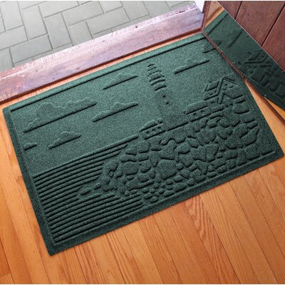 Aqua Shield Lighthouse Cove Doormat Color: Evergreen