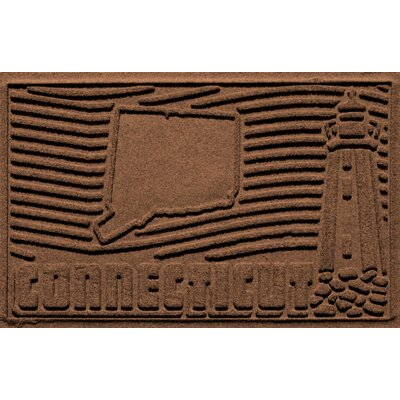 Aqua Shield Connecticut Doormat Color: Dark Brown
