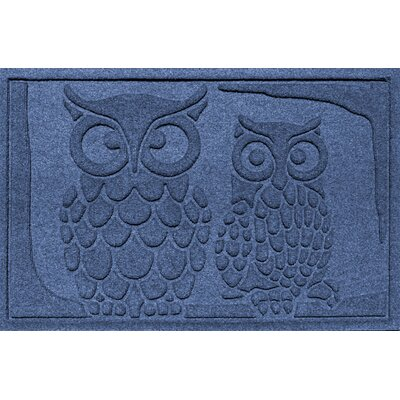 Conway Owls Doormat Color: Navy