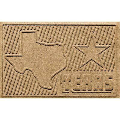 Aqua Shield Texas Doormat Color: Gold