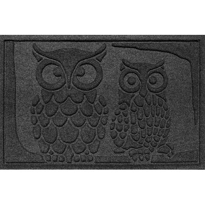 Aqua Shield Owls Doormat Color: Charcoal