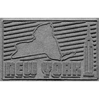 Aqua Shield New York Doormat Color: Medium Gray