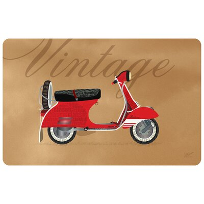 Surfaces Vintage Vespa Accent Doormat