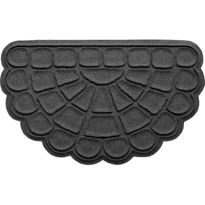 Aqua Shield Cobblestone Slice Doormat Color: Charcoal