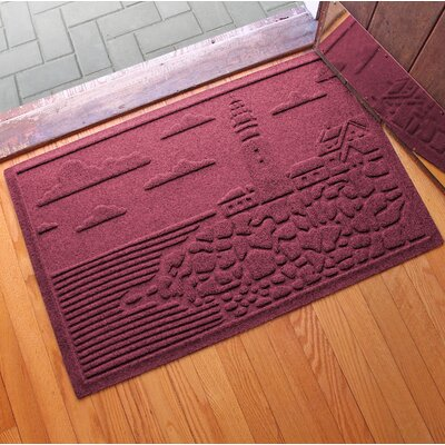 Aqua Shield Lighthouse Cove Doormat Color: Bordeaux