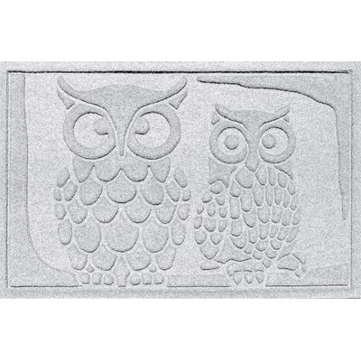 Aqua Shield Owls Doormat Color: White