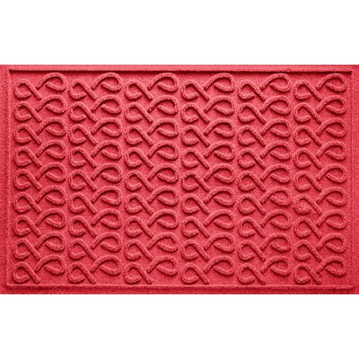 Aqua Shield Cunningham Doormat Color: Solid Red