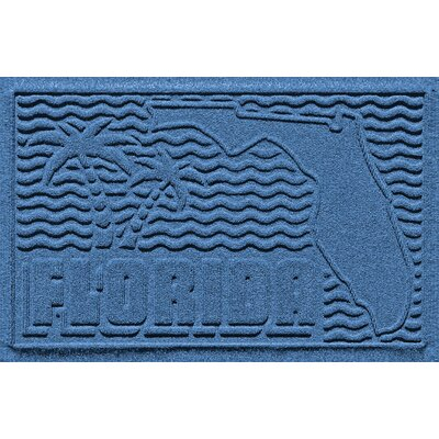 Aqua Shield Florida Doormat Color: Medium Blue