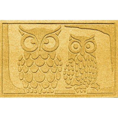 Conway Owls Doormat Color: Yellow
