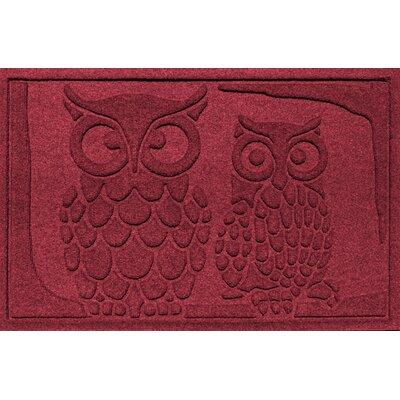 Conway Owls Doormat Color: Red/Black