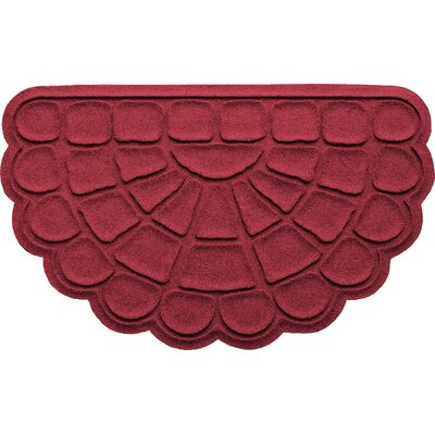 Aqua Shield Cobblestone Slice Doormat Color: Red/Black