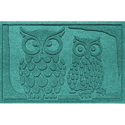 Conway Owls Doormat Color: Aquamarine