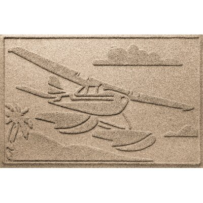Aqua Shield Sea Plane Doormat Color: Camel