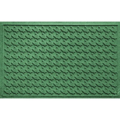 Aqua Shield Houndstooth Doormat Color: Light Green