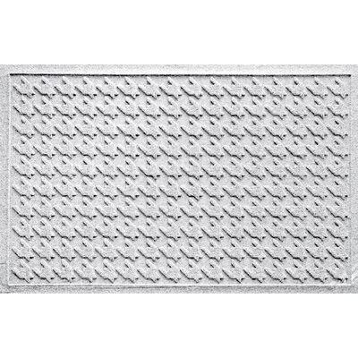 Aqua Shield Houndstooth Doormat Color: White