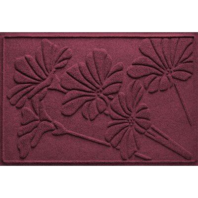 Aqua Shield Spring Flowers Doormat Color: Bordeaux