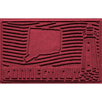 Aqua Shield Connecticut Doormat Color: Red/Black