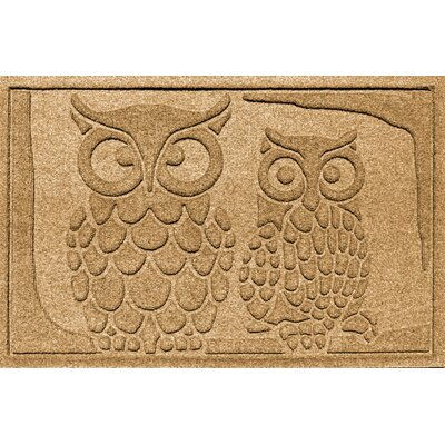 Aqua Shield Owls Doormat Color: Gold