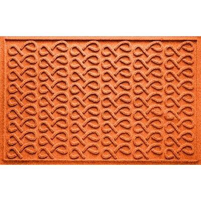 Aqua Shield Cunningham Doormat Color: Orange