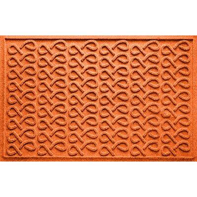 Aqua Shield Cunningham Doormat Color: Orange