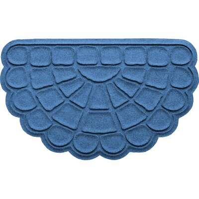 Aqua Shield Cobblestone Slice Doormat Color: Medium Blue