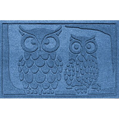 Conway Owls Doormat Color: Medium Blue