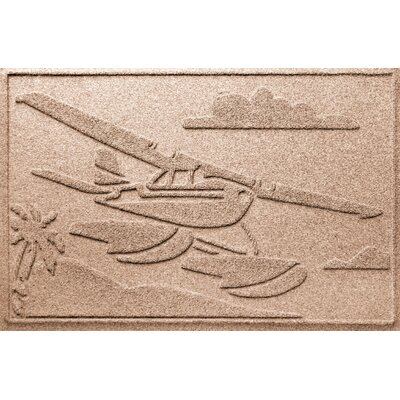 Aqua Shield Sea Plane Doormat Color: Medium Brown