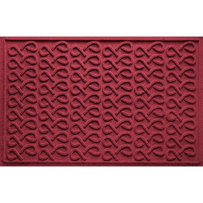 Aqua Shield Cunningham Doormat Color: Red/Black