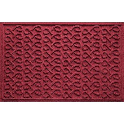 Aqua Shield Cunningham Doormat Color: Red/Black