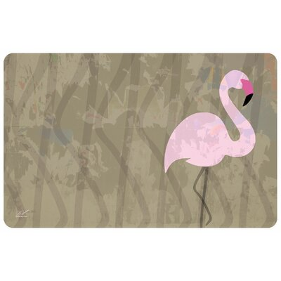 Surfaces Flamingo Doormat Color: Tan