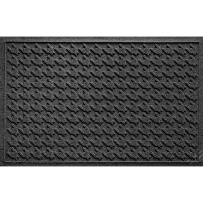 Aqua Shield Houndstooth Doormat Color: Charcoal